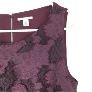 Halogen burgundy sleeveless lace front blouse s